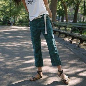 Anthropologie Austin Turquoise Camo Cargo Pants 26